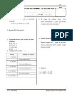 Examen de Entrada 1sec Arit