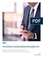 The Digital Transformation Directive Practical Approaches to Tackling Disruptive Technologies at Th