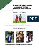 Vestimentas Presentacion Folclorica 2015