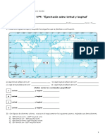 Guía Nº4 Ejercitación Sobre Latitud y Longitud 1