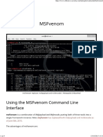 MSFvenom Metasploit Unleashed level 1