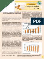 Competitividad Al Dia No. 148 Evolucion y Competitividad en El Sector Construccion de Panama