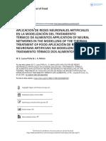 Aplicaci n de Redes Neuronales Artificiales en La Modelizaci n Del Tratamiento t Rmico de Alimentos