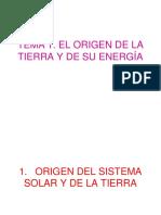 El Origen de La Tierra y de Su Energía