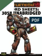 BATTLETECH - Record Sheets 3058 Unabridged - Clan Mech, Star League & Battle Armor