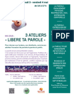 Ateliers Expressions Orales PAA Mai 2018