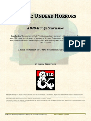 4e-to-5e Undead Horrors pdf   Dungeons & Dragons   Wizards