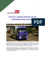 E-Force El Camión Suizo