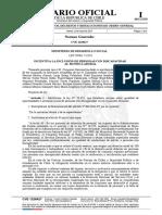 Publicación Diario Oficial