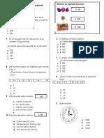 Matematicas Evaluación segundo grado