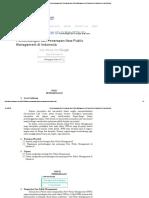 Perkembangan Dan Penerapan New Public Management Di Indonesia _ Fakultas Ilmu Administrasi