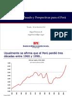 Lecciones Del Pasado y Perspectivas Del Perú. Miguel Palomino b.