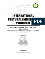 Front Page and Travel Itinerary