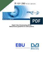 Digital Video Broadcasting measurement guidelines.