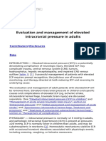 Evaluation and Management of Elevated Intracranial Pressure in Adults