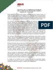 Declaración Final Cumbre de Los Pueblos, Lima Perú, del 10 al 14 de abril 2018