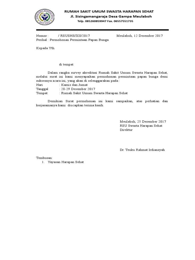 Permintaan Papan Bunga Doc