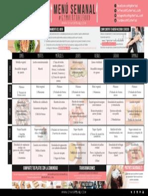 Thermomix menu pdf semanal