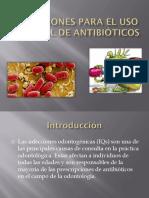 Indicaciones Para El Uso Racional de Antibióticos