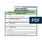 Internal Audit and Budget Department- Cash Receipts