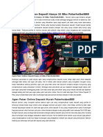 Agen Poker Online Deposit Hanya 10 Ribu Pokerhotbet888