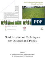 2. Seed Production Techniques for Oilseeds and Pulses