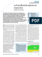 Management of Needlestick Injuries in Dental Practice