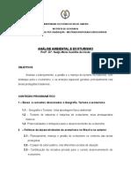 Programa Da Disciplina Análise Ambiental e Ecoturismo 2