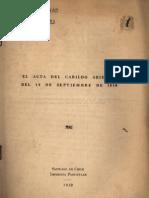 Acta Primera Junta 1810