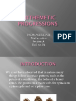 Arithmetic Progressions. PPT