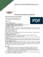 Tematica Licenta Drept 2018