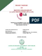 Marketing Strategies of Lg Electronics India (Pvt.) Ltd.