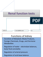 renal function test
