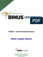 Water Supply System - BiNus