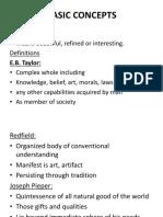 Basic Concepts Culture