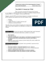 Ptsd Criteria Dsm 5