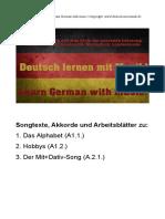 Deutsch Mit Musik Arbeitsblätter Worksheets