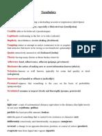 Vocabulary IV