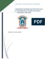Factores Socioeconomicos de Riesgo Que Influyen en La Inseguridad Cuidadana en La Cuidad de Tacna Al Finzalizar El Año 2015 (1)