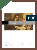 Historia y Politica de La Educacion Argentina U1
