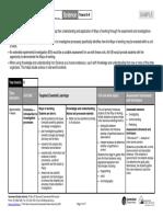 El Science Lower Second Work Plan Sample