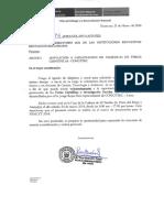 Oficio Nº 26 Invitacion Promocion de Las Ciencias
