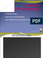 Chap 1 - Creativity and Business