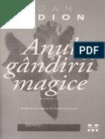 Anul Gandirii Magice - Joan Didion Partiala