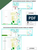 mapa de evacuación de restaurante ramiros