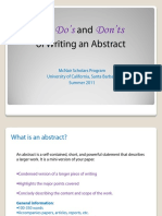 How to Write an Abstract Ucsb