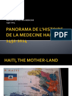 Panorama de l'Histoire de La Medecine Haitienne
