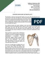 Reverse Total Shoulder Arthroplasty Rehab Protocol