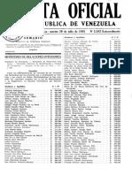 Gaceta Oficial de Venezuela 3592