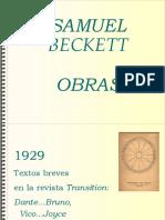 Presentacion obras de Samuel Beckett